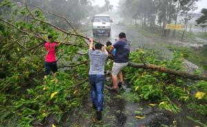"""""""威马逊""""携17级风登陆海南,为41年来登陆华南最强台风"""