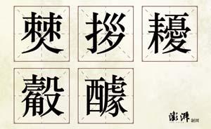 汉字听写大会上的字你能写出几个?
