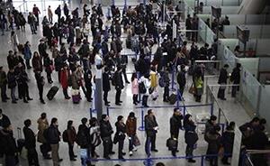 除夕上海浦东机场出入境人数创近十年之最,较去年增长14%