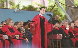 中国大陆留学生首登哈佛毕业典礼讲台:何江,来自湖南农村