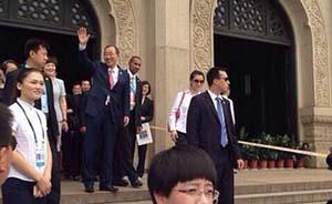 联合国秘书长潘基文南京拜谒中山陵,进内殿瞻仰大理石棺