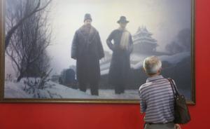"""上海市民冒雨参观""""日出东方""""展览,百年前视频资料首次展出"""