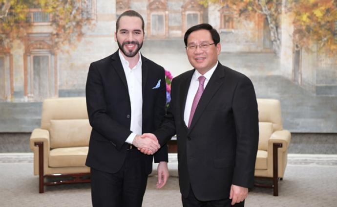 首次訪華的薩爾瓦多總統與李強會面時,贊城市治理謀進博機遇