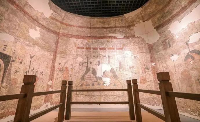 """""""壁上風神,驚世華彩"""":兩百平方的北朝壁畫昨起山西展出"""