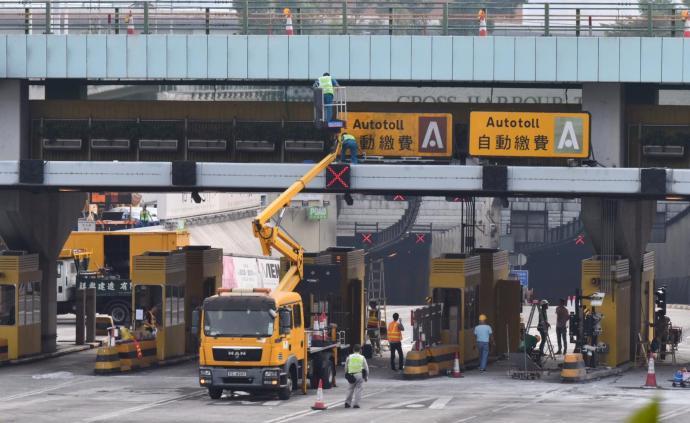 香港红磡海底隧道今日恢复电子缴费设施运作