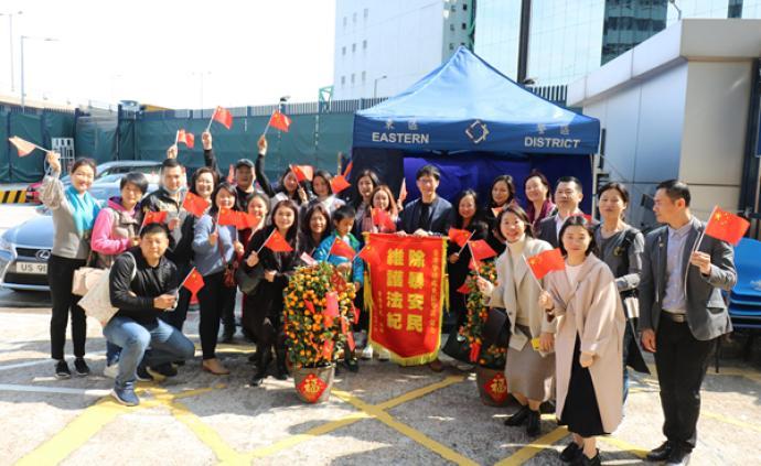 香港市民为警务人员送新春祝福,港警:努力让社会恢复安宁