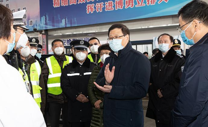 """上海瞄准三个重点方向打出""""组合拳"""",应勇检查高速公路入口"""