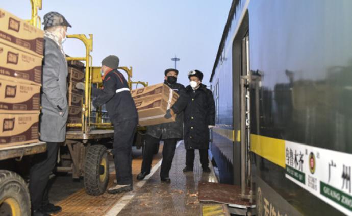 1月份全國鐵路完成貨物發送量3.6億噸