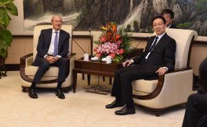 韩正:上海将一如既往为中外企业创造更好发展环境