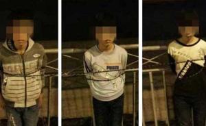 """云南3名未成年人行窃被抓遭捆绑,胸前挂有""""我是小偷""""字牌"""