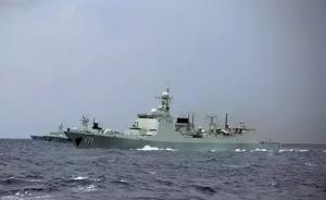 南海舰队052D驱逐舰长沙舰南海演习,主副炮对空对海射击
