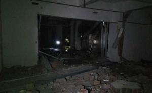 四川武胜县人民医院在建大楼爆炸4人受伤,现场散发刺鼻味道