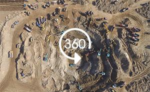 360°全景|男童掉落约40米深枯井,80多台挖掘机救援