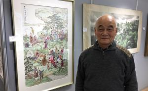 上海慈善义拍预展启动,75岁老画家连续六年捐画参拍