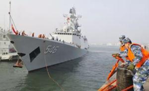 海军北海舰队舰艇编队完成演习访问任务,返回青岛某军港
