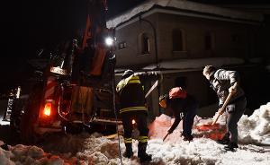 意大利雪崩已找到3名遇难者,被埋酒店内仍有30多人失踪