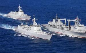 震撼!中国海军春季练兵展开实弹射击