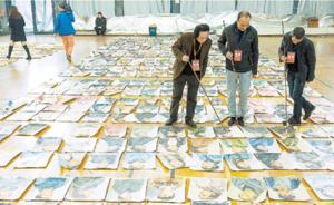 """中国美院招考最后一轮阅卷:4万张卷子铺一地进行""""海选"""""""