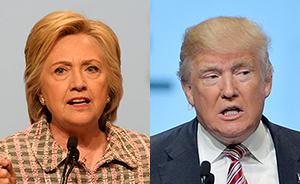 """""""希普""""总统之争正式上演,民调显示特朗普微弱领先"""