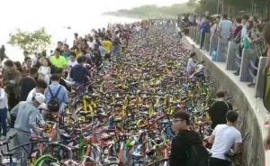 经政府与企业努力,今日驶入深圳湾公园共享单车数明显减少