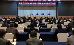 中央环保督察组向重庆反馈:化工企业密集布局长江存环境风险