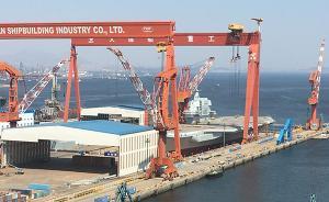 """首艘国产航母下水日临近:船坞开始注水检测,成热门""""景点"""""""