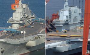 直击|国产航母外观基本明朗,同角度对比辽宁舰