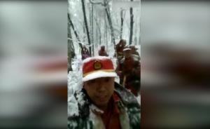 火灭了,消防战士归途自拍灭火后的自己