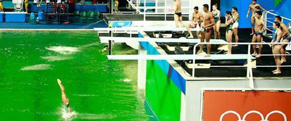 里约奥组委回应跳水池变绿:水质无异常,选手可放心比赛