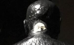 台北阳明山蒋介石铜像刚修复又遭破坏,两人被当场逮捕