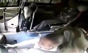 视频丨滚石砸穿玻璃,公交司机遇难前拉住手刹挽救14条生命
