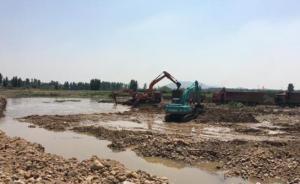 河北武安备汛:三百公里河道紧急疏通,两百台挖掘机通宵工作