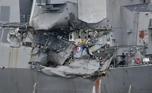 """""""美舰被撞7大兵丧生""""更多细节披露:事发1小时才有人报警"""
