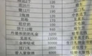 视频|江西男子谈8年恋爱列26万元分手清单:旺仔牛奶都算
