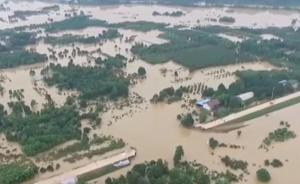 浏阳河曙光垸现场:洪水溃口超30米