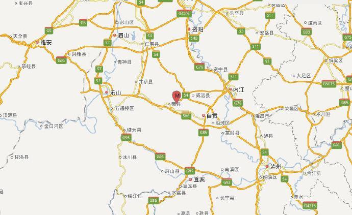 四川自貢市榮縣發生4.4級地震,震源深度10千米