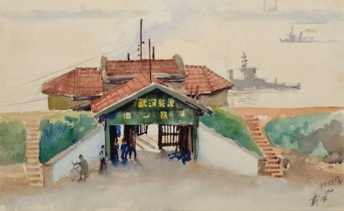 """《汉口码头》与《倾斜的云》,艺术公益拍卖参与""""战疫"""""""