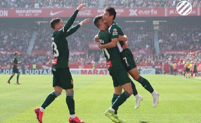 武磊首發斬獲西甲客場首球,西班牙人客場戰平保級不樂觀