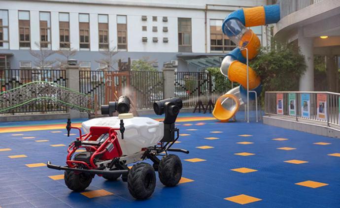 極飛科技無人機+無人車,5分鐘完成7000平方米防疫消殺