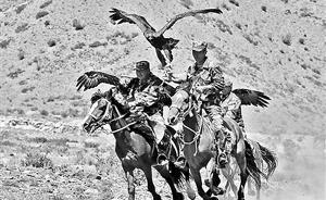 """新疆一""""猎鹰""""巡逻队成网红:柯尔克孜族驯鹰已有几千年历史"""