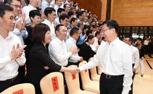 韩正会见市新闻工作者协会全体理事:坚定不移深化改革创新