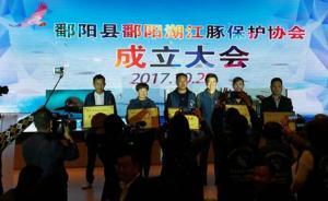 """江西鄱阳县鄱阳湖江豚保护协会正式成立,保护""""水中大熊猫"""""""