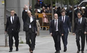 西班牙法院下令羁押8名加泰政府前官员,前主席未出庭受审