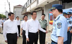 韩正、应勇察看部队停偿工作进展:驻沪部队完成85.6%