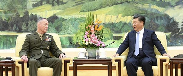 习近平会见美军参联会主席邓福德:希望双方密切沟通妥处分歧