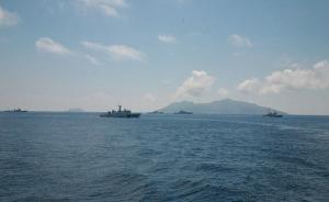 中国海警舰船编队今日在中国钓鱼岛领海内巡航