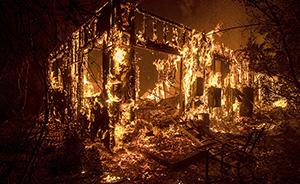 环球|美国加州山火失控:火光冲天如炼狱,20万人被迫逃离
