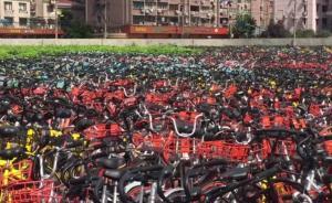 3万辆违停共享单车停于上海一处空地
