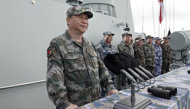 习近平出席南海海域海上阅兵,强调全面建成世界一流海军