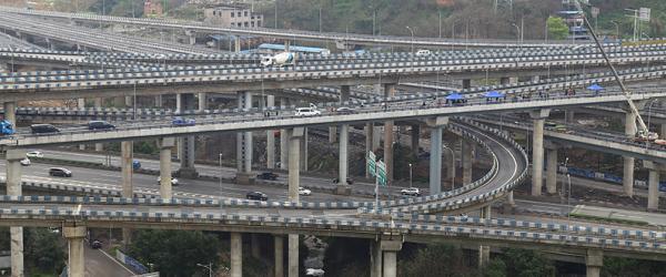 最复杂的立交桥_中国最复杂立交桥,五层15条匝道,走错一个匝道,就是重